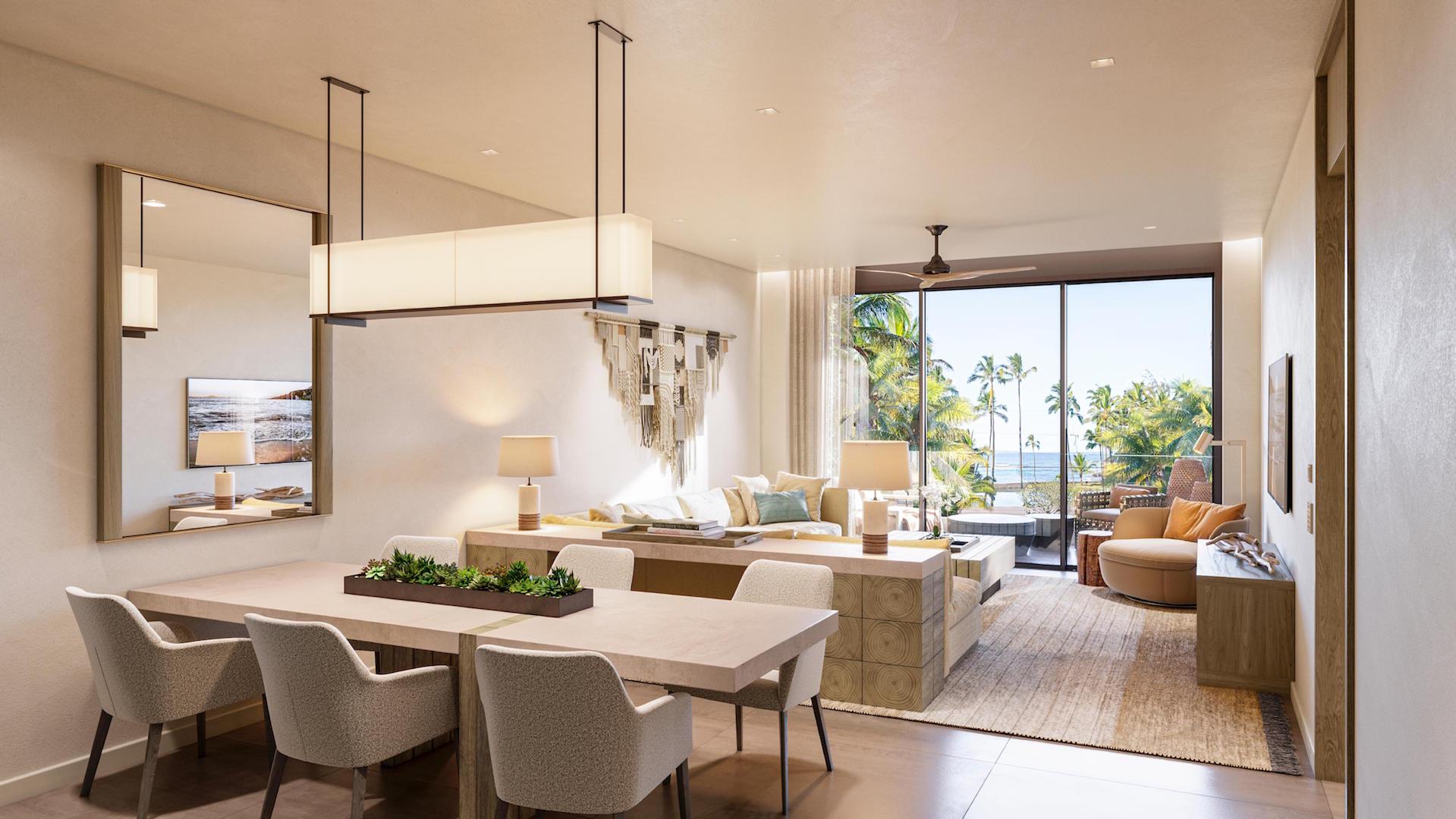 1-bedroom residence living room
